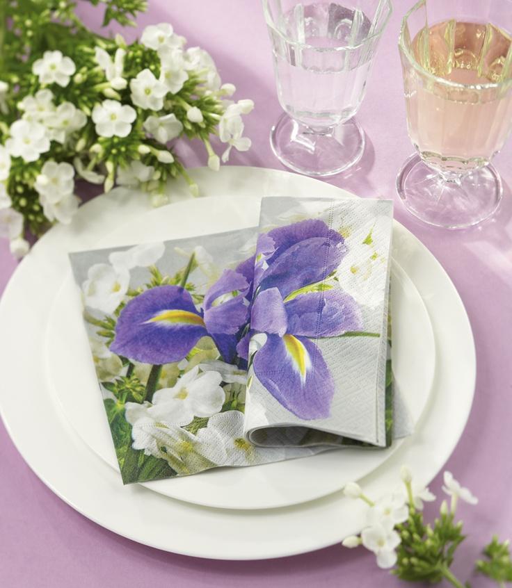 Paper + Design napkin - Bright iris