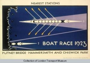 1923 London Underground poster - Boat Race
