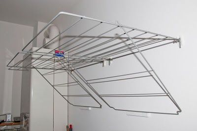 Frost laundry on the wall - IKEA Hackers - We gotta do something about the drying rack need...indoors or out!