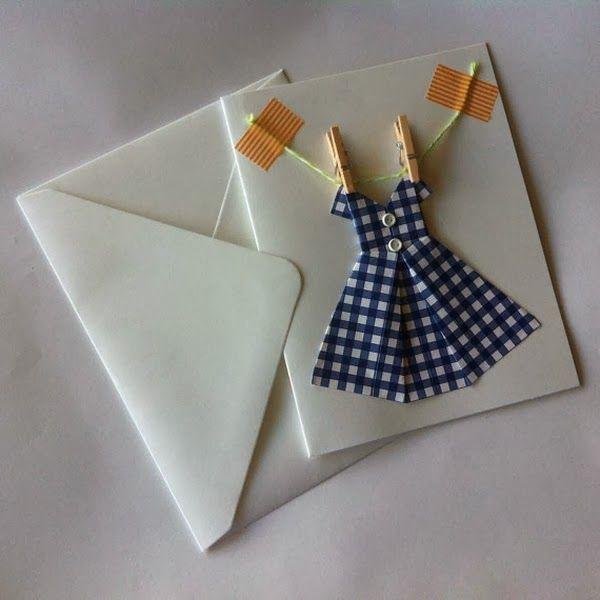 Le Frufrù: Un vestito origami per un invito al femminile