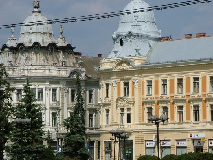 The Twin Palaces in Cluj-Napoca Romania