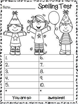 SPELLING TEST FREEBIE~ JANUARY EDITION!!!!! - TeachersPayTeachers.com