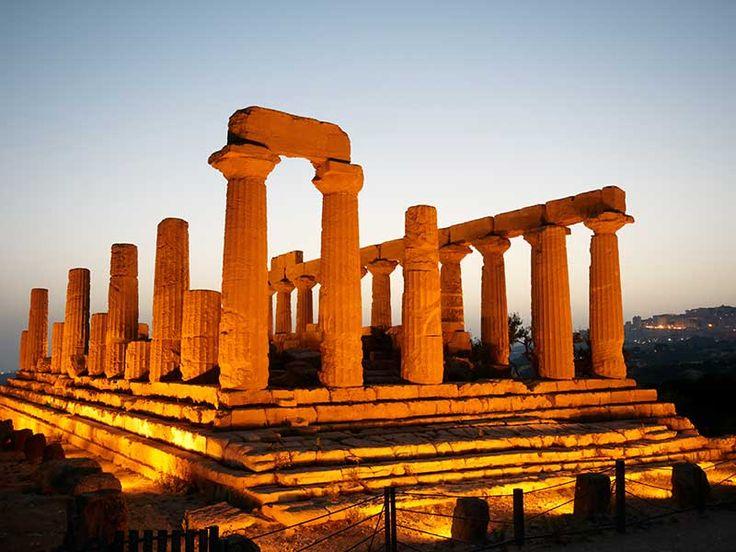 Agrigento - Tempio di Hera di notte