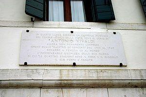 Antonio Vivaldi - Ospedale della Pieta, where Vivaldi worked (look for plaque on wall)