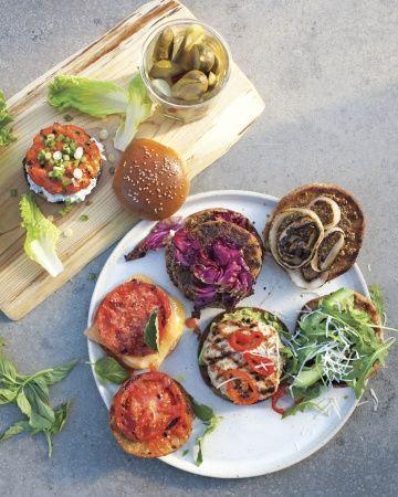 Quinoa-Feta Burgers, Sharp Cheddar and Tomato Burgers & Salmon Burgers ...