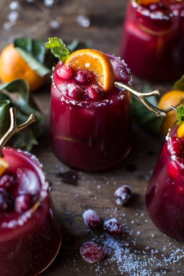 Cranberry Orange Margaritas (VIDEO) | http://halfbakedharvest.com /hbharvest/