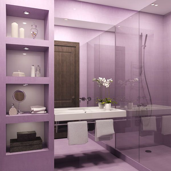 Purple Bathroom Decor: Pictures, Ideas U0026 Tips From