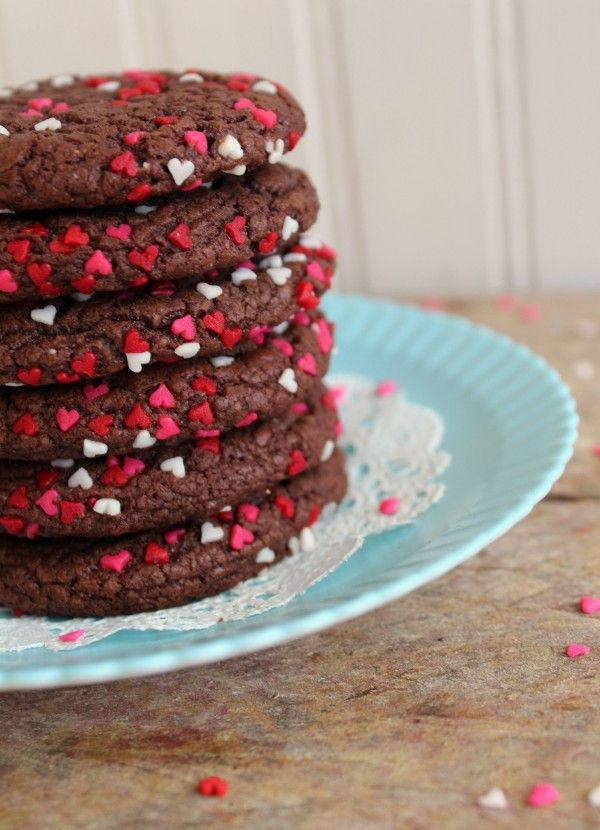 valentine's day cake mix cookies