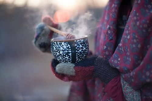 cold, winter, and tea image