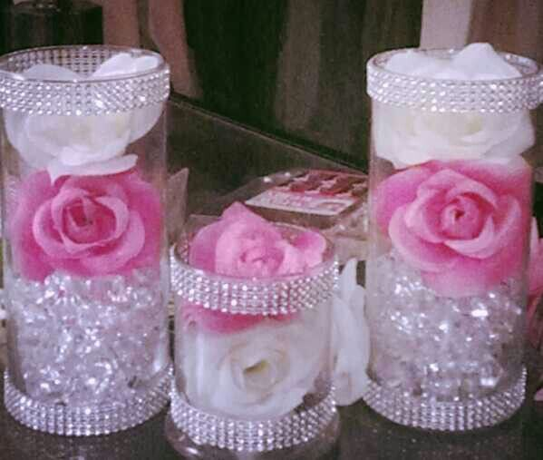 "Pink Bling Centerpiece (By ""Event Time"")"