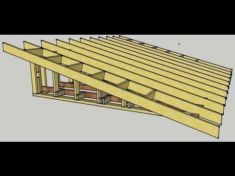 Skillion Roof Erection Procedure Youtube Building