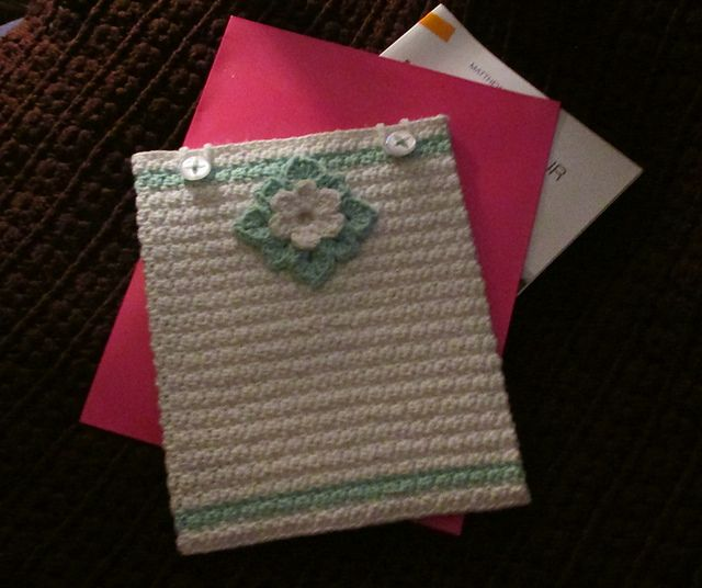Ravelry: Decorative Floral iPad Cover pattern by Ann Roth