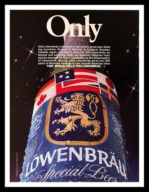 1986 Lowenbrau Beer Ad  Wall Art  Home Decor  by 3rdStVintagePaper
