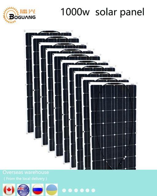 Boguang 1000w Solar Panel 10 100w Solar Module Monocrystalline Silicon Cell Mc4 Connector For 12v Battery House Rv Power Solar Panels Solar Solar Energy Panels