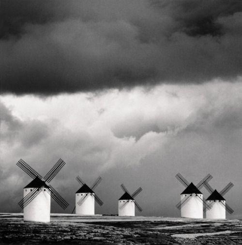 "distinguishedcompany: "" pasajera: Quixote's Giants, Study 2, Campo de Criptana, La Mancha, Spain, 1996, edition of 45. (Via Pobeda Gallery) """