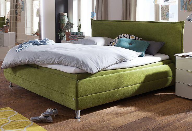 Und noch ein grüner Hingucker. Dieses Boxspringbett mit 7-Zonen-Tonnentaschenfederkern-Matratze ist auf alle Fälle zum Träumen gemacht.