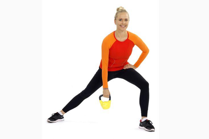 Kettlebell tränar hela kroppen.