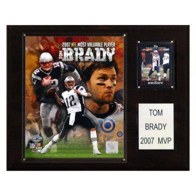 NFL 12 x 15 in. Tom Brady 2007 NFL MVP New England Patriots Player Plaque - 1215BRADYMVP