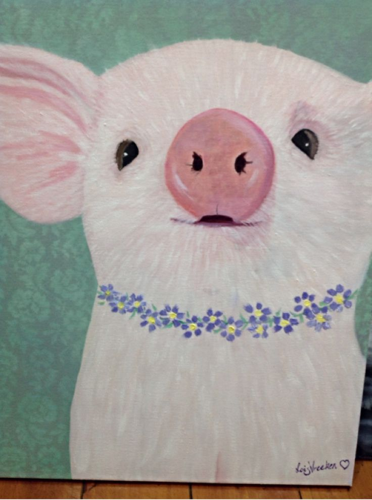 Pretty pig in oil