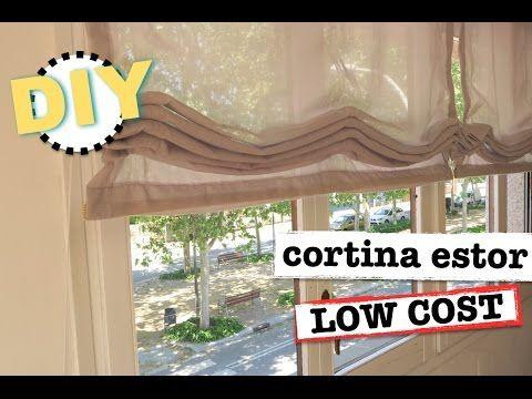DIY CORTINAS ESTOR |LOW COST | SUPER FACIL Y ECONOMICO - YouTube