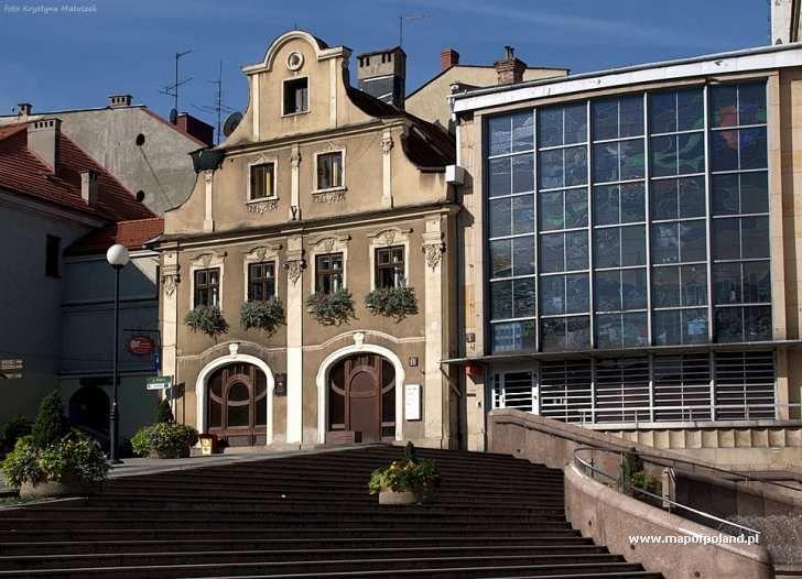 Baroque building, Chrobrego Square in Bielsko-Biała, Poland