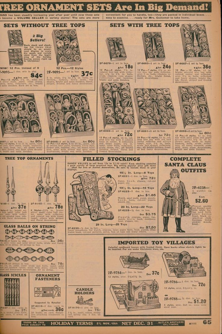 Christmas ornament catalogs - Butler Brothers Catalog Covers And Christmas Decoration Pages From The 1930s