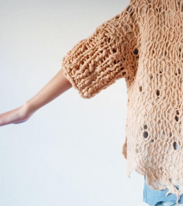 Sweaters & Vests – 100% merino wool fashion sweater – a unique product by alikaduman on DaWanda