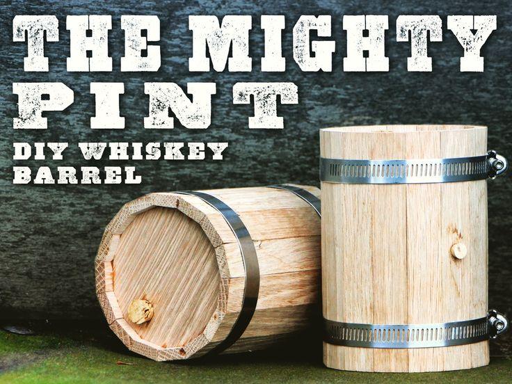 DIY Mini Whiskey Barrel project video thumbnail