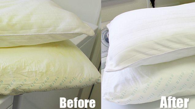 WAAAT met deze geweldige tip is je vergeelde hoofdkussen zo weer stralend wit!