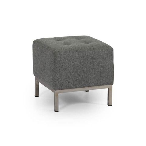 Metro Stool - If you are looking for a modern shape and out of the box construction for a stool, then a suitable option is the metro stool from Elite Design Furnishings. With a robust body and an oversized tufted top, this avant-garde furniture item is very sturdy and aesthetically good looking.