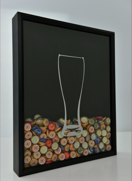 Shadow Box Bottle Cap Collector from Craft Beer Hound's Indiegogo campaign