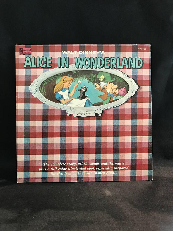 ALICE IN WONDERLAND Record, Alice in Wonderland Illustrated Story, Walt Disney record, Disneyland Record, Alice in Wonderland story & music by TheJellyJar on Etsy