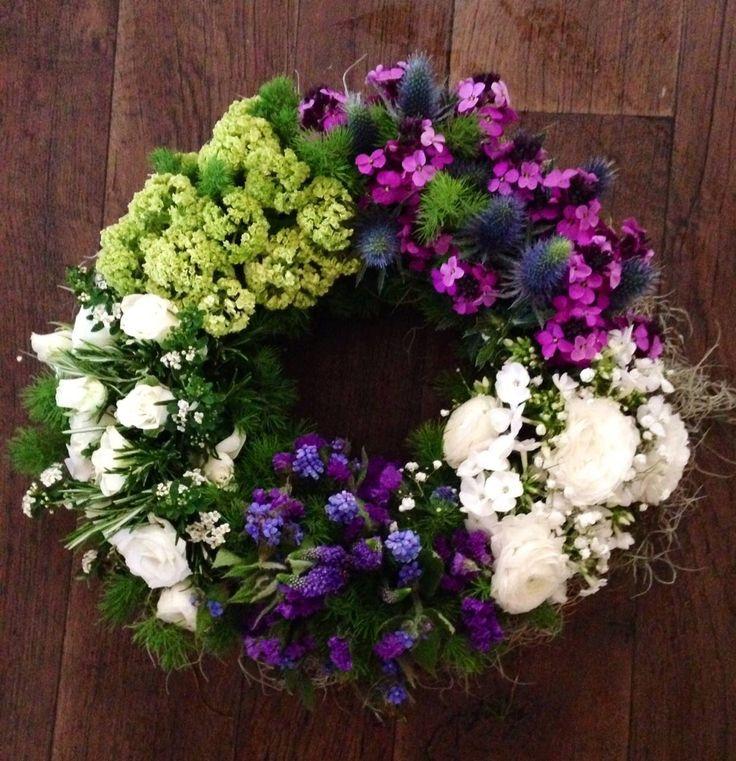 #grouped wreath win & Jim flowers
