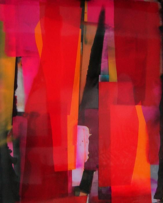 RIBBONS - Abstract Painting by Artist Stefan Annerel
