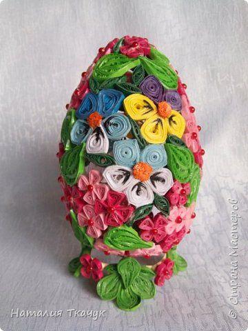 Поделка изделие Пасха Квиллинг Квиллинговые яйца Бумажные полосы фото 6