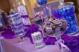 mesa de dulces para boda morada - Buscar con Google