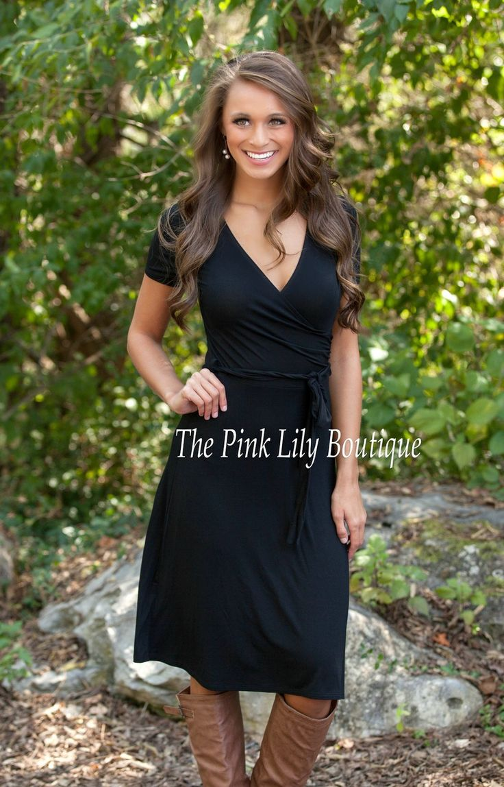 The Pink Lily Boutique - The Real Me Black Tie Dress , $32.00 (http://thepinklilyboutique.com/the-real-me-black-tie-dress/)
