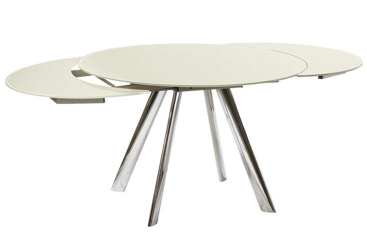 Esstisch rund ausziehbar modern  Esstisch Glas Rund Ikea | rheumri.com