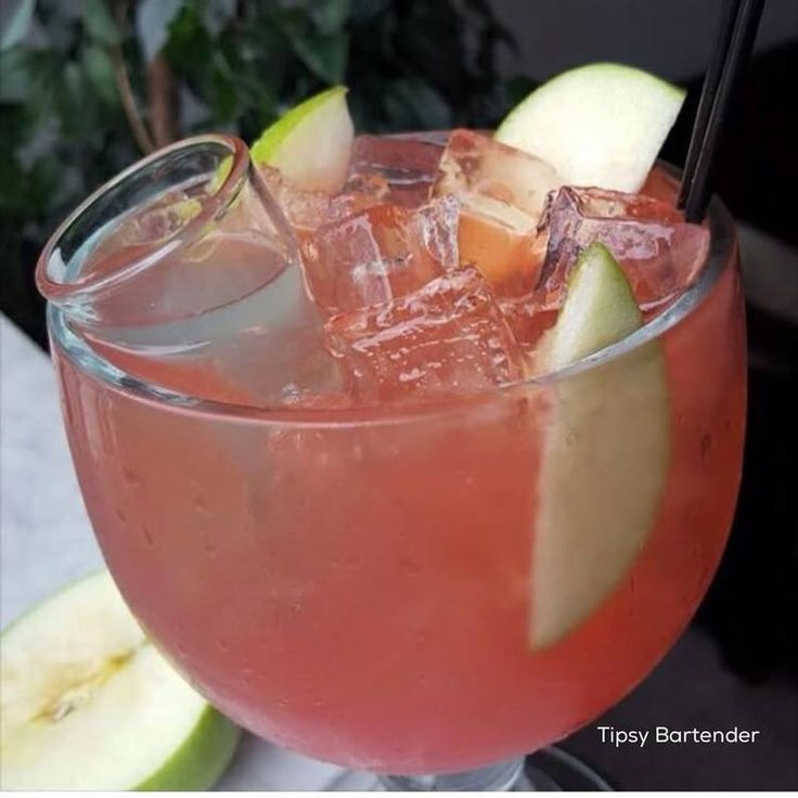 Sweet Apple Sangria - For more delicious recipes and drinks, visit us here: www.TopShelfPours.com