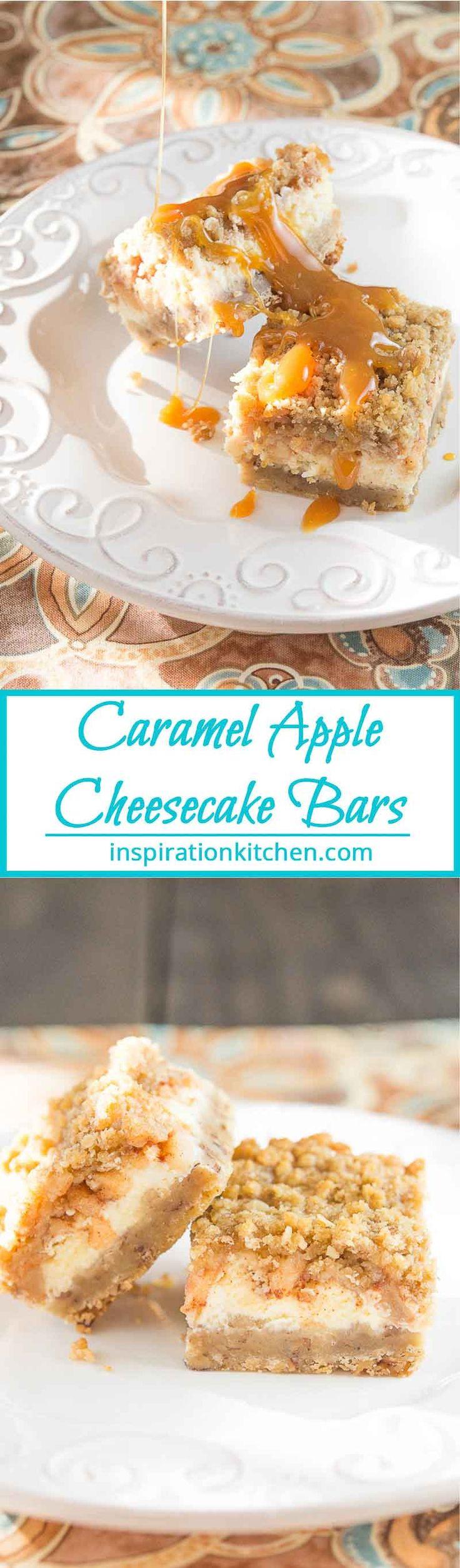Caramel Apple Cheesecake Bars   Inspiration Kitchen