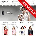 Shopomania osCommerce website template - Tonytemplates