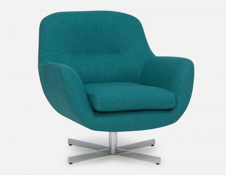 STEFAN - Swivel armchair - Green