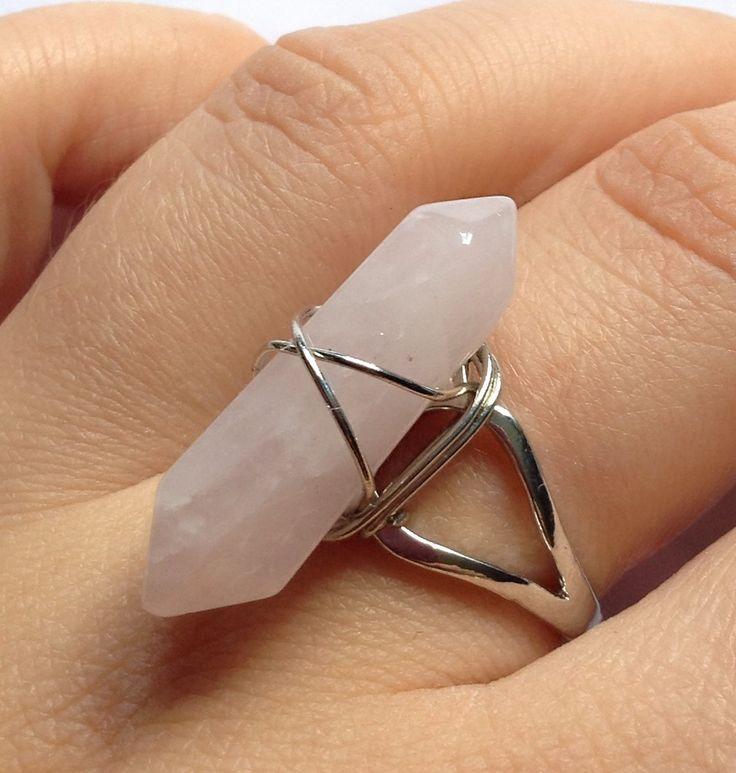 Rose quarzt ring