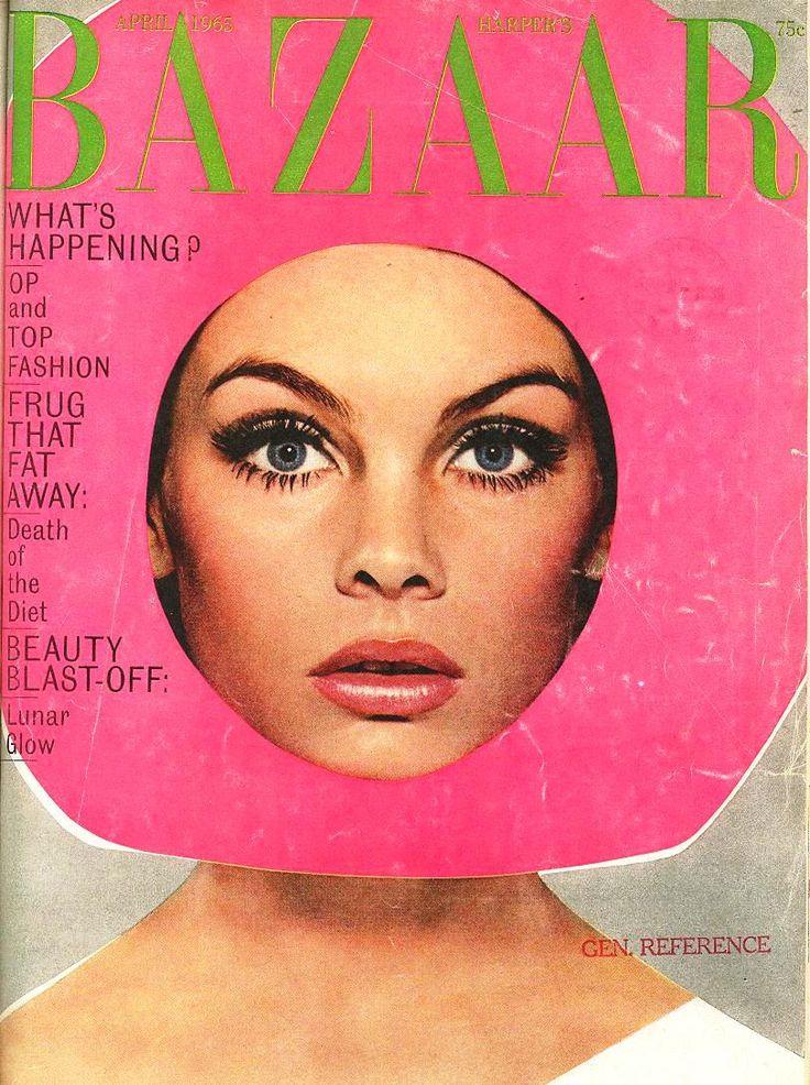 harpers bazaar: Magazine Covers, Fashion, April 1965, Harpers Bazaar, Jean Shrimpton, Jeanshrimpton, Bazaars