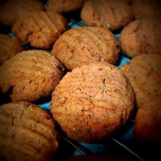 Chocolate almond biscuits