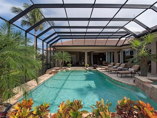 23850 Tuscany Way Bonita Springs Fl 34134 In 2020 Luxury Swimming Pools Small Backyard Pools Swimming Pool Designs