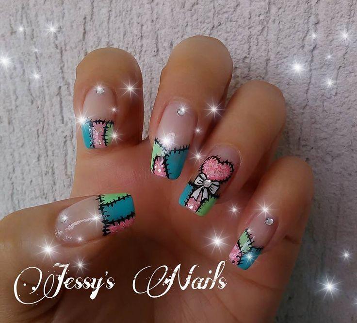 uñas decoradas con corazones #uñas #bonitas #decoradas #corazones