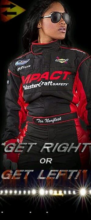 TIA NORFLEET - FIRST AFRICAN AMERICAN FEMALE RACE CAR DRIVER - NASCAR