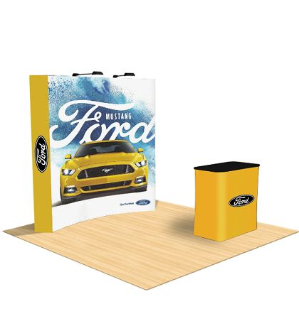 Curved fabric pop up display easily catches the attention of the visitors. Tent depot Curved fabric pop up display is attractive and stylish. These Curved fabric pop up display is great for trade shows, exhibition and events. Curved fabric pop up display is extremely light in weight and easy to carry. Get your message and brand spread by our dynamic curved fabric pop up display.