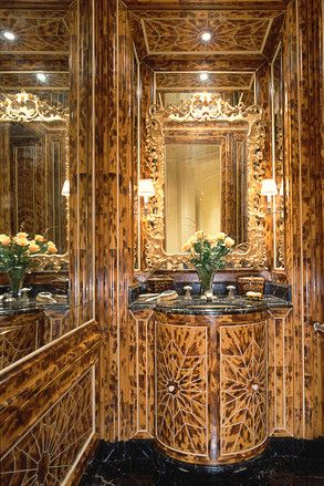 An Amazing And Much Published Powder Room In A Lovely SF Beaux Arts Apartment Building Across